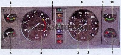 Горит лампочка аккумулятора ВАЗ  Лампа индикатора зарядки аккумулятора находиться в блоке контрольных ламп третьей сверху